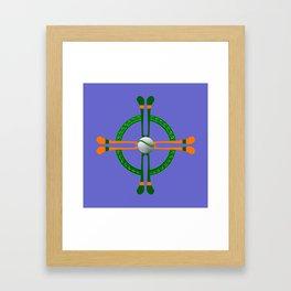 Hurley and Ball Celtic Cross Design - Solid colour background Framed Art Print