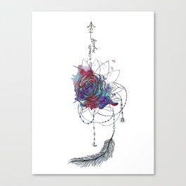I Create Myself/ Bad Wolf Dream Catcher Canvas Print