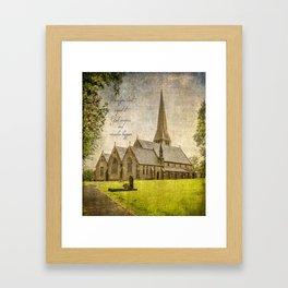 Miracles happen / Christ Church, Healey, Rochdale Framed Art Print