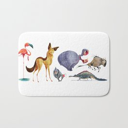 African animals 3 Bath Mat