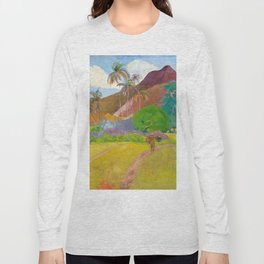 Tahitian Landscape by Paul Gauguin Long Sleeve T-shirt