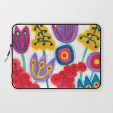 raw flower garden with tulips Laptop Sleeve