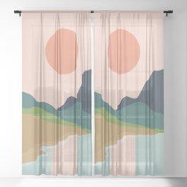 Sun reflection Sheer Curtain