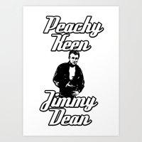 Peachy Keen Jimmy Dean Art Print