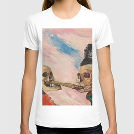 Skeletons Fighting portrait painting by James Ensor T-shirt