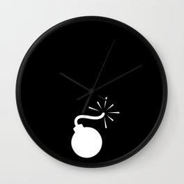 BLACK & WHITE BOMB DIGGITY Wall Clock
