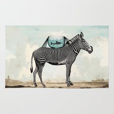 Zebra Friends Travelling the World Rug