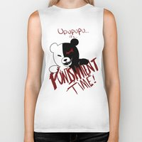 dangan ronpa Biker Tanks featuring Dangan Ronpa: Monokuma's Punishment by Michelle Rakar