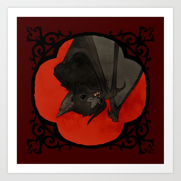 Vampire Bat Art Print by abigaillarson