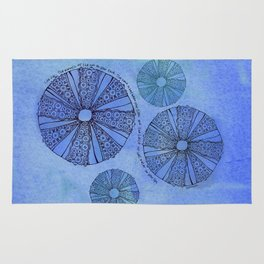 Blue Sea Urchin Rug
