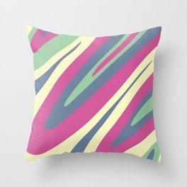 Abstraction. Camouflage. Colored bends. Throw Pillow