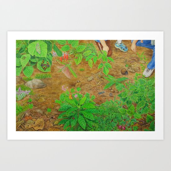 A Day of Forest (6). (close look) Art Print