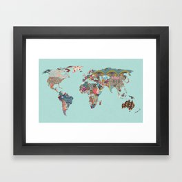 Louis Armstrong Told Us So (teal) Framed Art Print