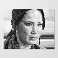 katniss Canvas Prints featuring Katniss by The Dark Art of Dawn