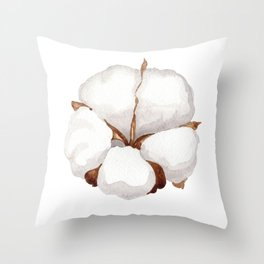 Cotton Flower 02 Throw Pillow