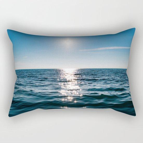Sea Blue Sky sun Rectangular Pillow