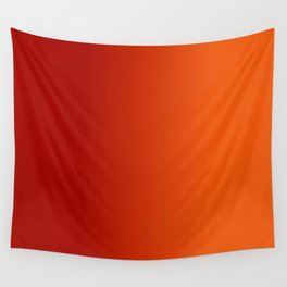 Ombre in Red Orange Wall Tapestry