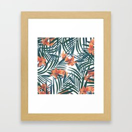 Tropical Lilies Framed Art Print