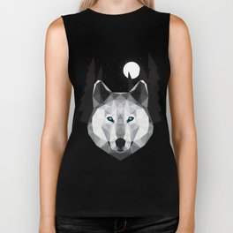 The Tundra Wolf Biker Tank