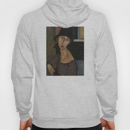 Modigliani - Jeanne Hebuterne With Hat And Necklace Hoody