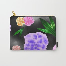 Black Blush Rose Carry-All Pouch