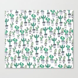 Watercolor Cacti Canvas Print
