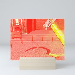 SquaRed: Hammer Sickle Wire and The Gun Mini Art Print