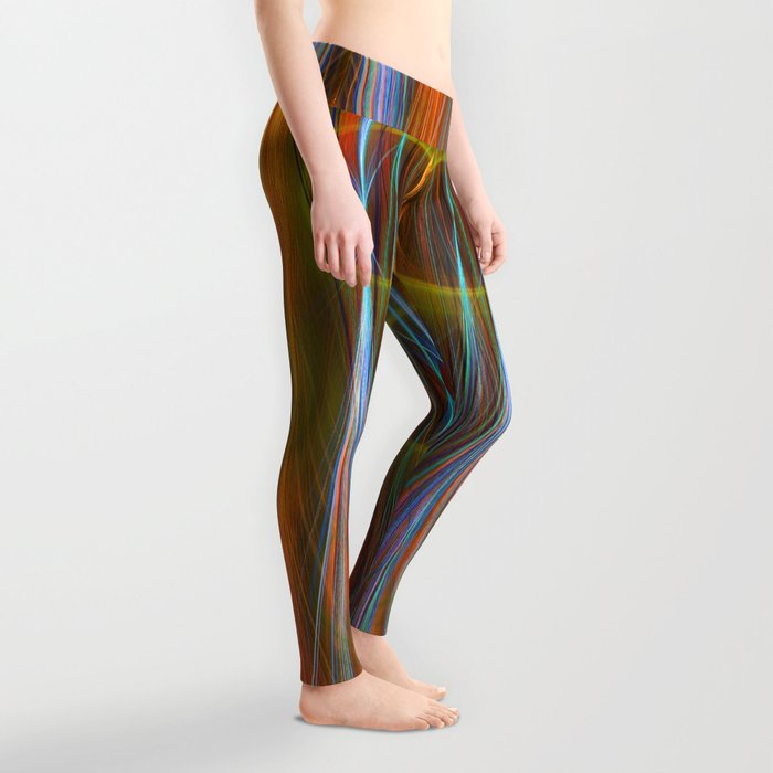Mirthful, colourful abstract Leggings
