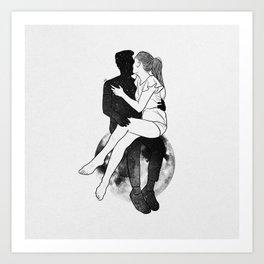 Take me to the moon. Art Print