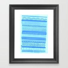 Tribal#1 (Blue) Framed Art Print