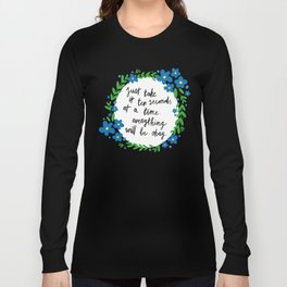 Ten Seconds - Lime Long Sleeve T-shirt