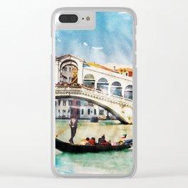 VENICE, Italy - Beautiful Earth / Watercolor art Clear iPhone Case