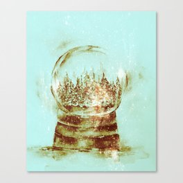 Snow globe -sepia Canvas Print