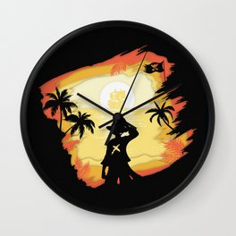 The Pirate King Wall Clock