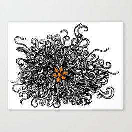 Burst of Swirls Doodle Canvas Print