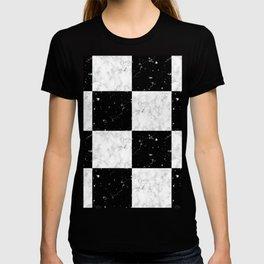 Elegant black white marble T-shirt