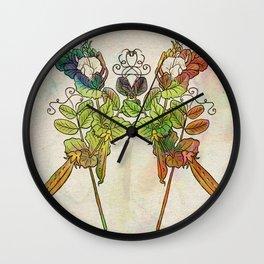 Grow Like Peas Wall Clock