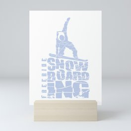 Freestyle Snowboarding Gift for Snowboarders Mini Art Print
