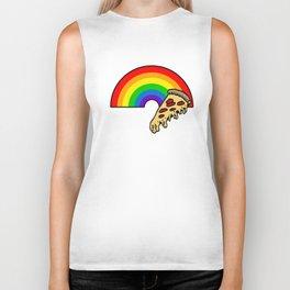 pizza rainbow Biker Tank