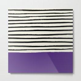 Purple Grape x Stripes Metal Print