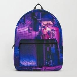 The Neon Alleyway Ghost Backpack