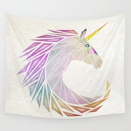 unicorn cercle Wall Tapestry