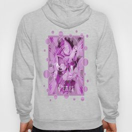 Dove With Celtic Peace Text In Pink Purple Tones Hoody