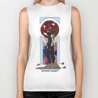 the winter soldier Biker Tanks featuring Art Nouveau Winter Soldier by Totally Bucky