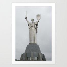 Motherland Statue, Kiev, Ukraine Art Print