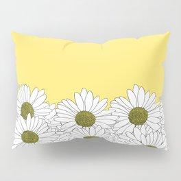 Daisy Boarder Yellow Pillow Sham