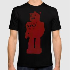 red robot Mens Fitted Tee Black LARGE