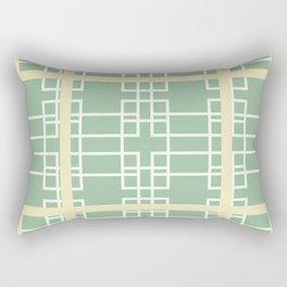 Midcentury Modern Geometric Art Mint Green Rectangular Pillow