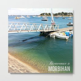 Morbihan Port Metal Print