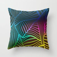 coral Throw Pillows featuring Coral by Maxxydesign